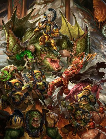File:Ironjawz vs Bloodbound Colour Illustration.png