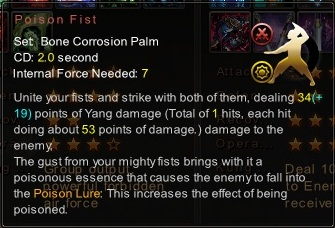 (Bone Corrosion Palm) Poison Fist (Description)