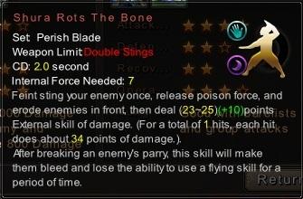 (Perish Blade) Shura Rots The Bone (Description)