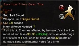 (Taiji Sword) Swallow Flies Over The Pond (Description)