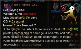 (Crying Stick) Birds and Apes Cry (Description)