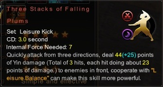 (Leisure Kick) Three Stacks of Falling Plums (Description)