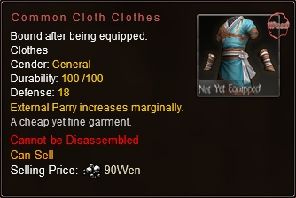 File:Common Cloth Clothes Stats (Dropped from Wooden Treasure Chest).png