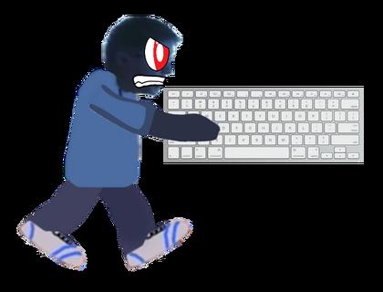 Leopold Slikk Mad with a Keyboard