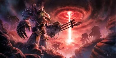 Warhammer 40k tribute chaos space marine by pierreloyvet-d5ayjg5