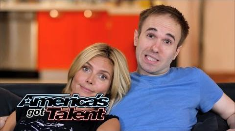 Heidi Klum and Taylor Williamson Go On a Date - America's Got Talent 2014