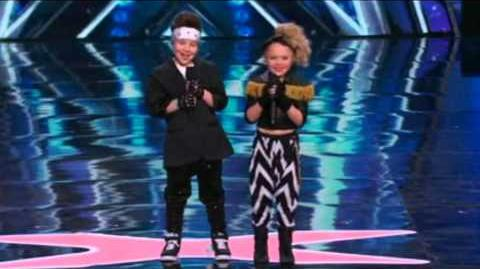 America's Got Talent 2015 Elin & Noah Auditions 1