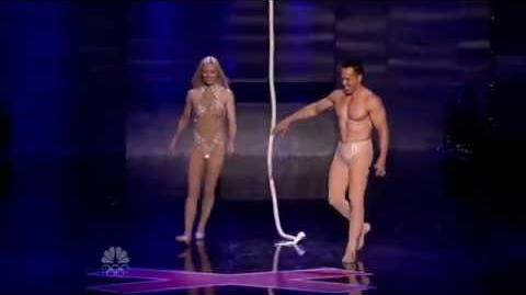 Donovan & Rebecca - Acrobalance Duo - Vegas Round - America's Got Talent 2012