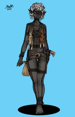 Canaia dark elf huntress by shabazik-d7bhlsr
