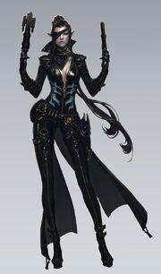 Gunslinger concept art female