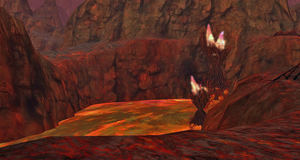 Red Lava Cliff