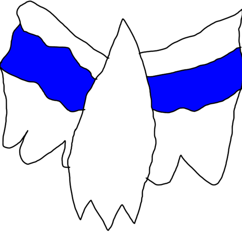 the original design for the star, with the blue stripe.