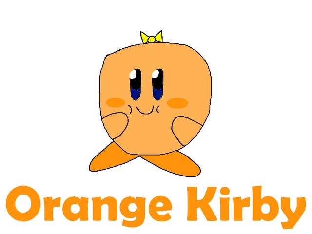 File:Orange Kirby GAY Artwork.png