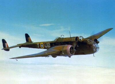 Handley Page Hampden in the air