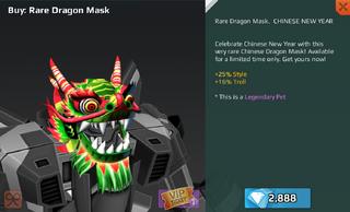 Rare Dragon Mask Full