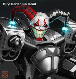 Harlequin head cropped