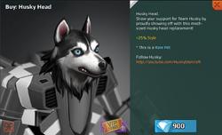 Husky Head Full