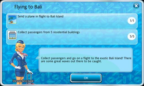 Flying to Bali