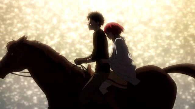 File:Shirayuki and Obi riding together S1E11.jpg