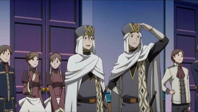 File:Kai, Shiira and Servants watching the Finale.jpg