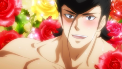 Bulat smiling at Tatsumi