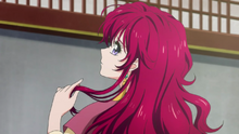 Yona complains about her unruly red hair