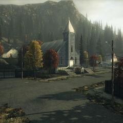 Kościół z widoku sąsiedniej ulicy