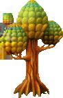 Round-topped tree