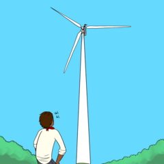 The wind turbine, as seen in Comic 2.