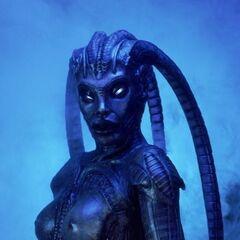 Sara in her alien form