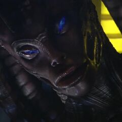 Sara (Daughter of Eve and Patrick Ross) in her alien form