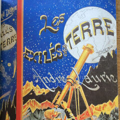 Cover of the novel Les Exilés de la Terre (1888) by french author André Laurie