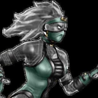 Khameleon, a female Saurian.