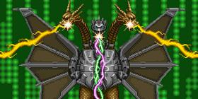 Mecha-King Ghidorah attacks