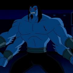 a blue skinned Tetramand