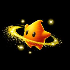 Co-Star Luma, an orange-skinned Luma