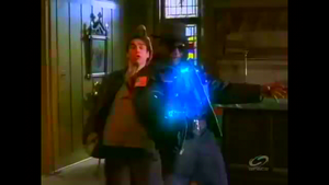Dawson is killed by a blast from Zin's energy gun