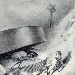 A Martian, as originally illustrated by Warwick Globe