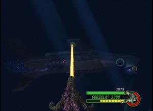 Godzilla fights the Hammersub