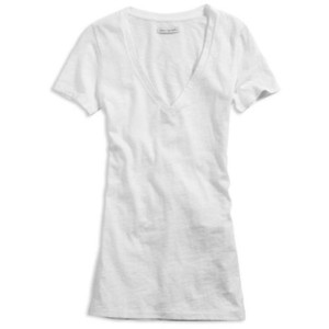 File:White V-Neck shirt.jpg