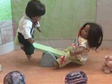 Twins at playground
