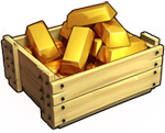 Large box of gold