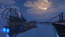 Astral ship at port