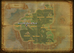 Hurcha the Gifted map