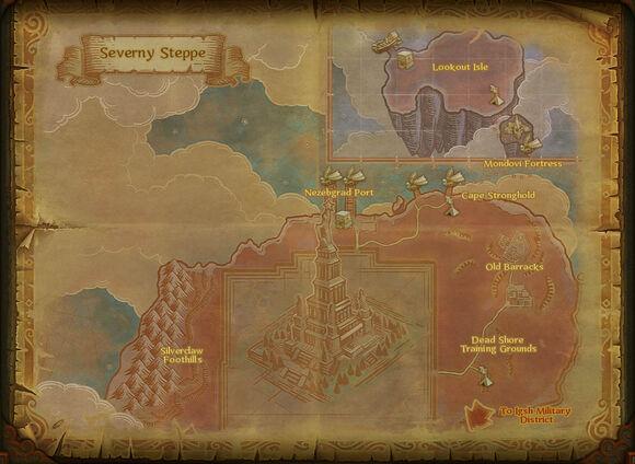 Map severny steppe