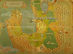 Nadine degrandeur map