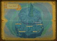 Yazes Shard treasure map