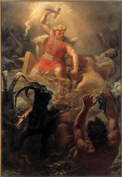Thor's Fight with the Giants (1872) by Mårten Eskil Winge