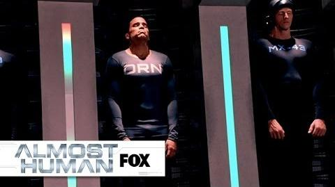 """Kennex Checks Out Dorian's Space from """"Blood Brothers"""" ALMOST HUMAN FOX BROADCASTING"""