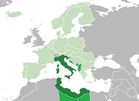 Location of Italy (Bamboo Curtain)
